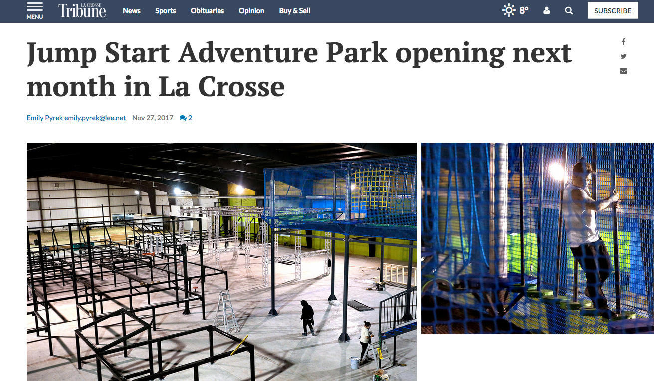 La Crosse News >> News About Jump Start Adventure Park